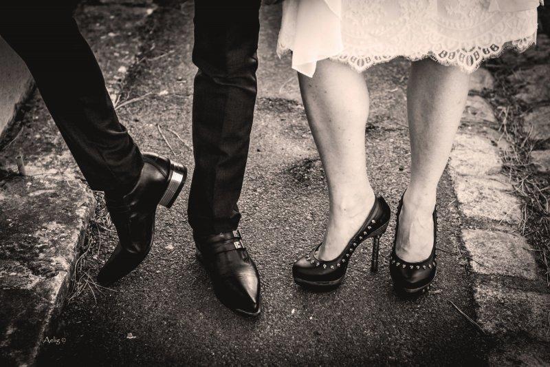 Photographe mariage pied